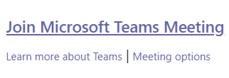 Image of Join Microsoft Teams Meeting Link