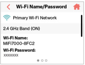 WiFi Name and Password