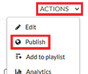 screenshot of the actions menu for a video on the UW System mediaspace