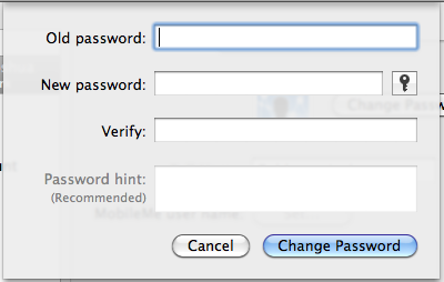 Enter old password