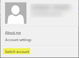 Switch account