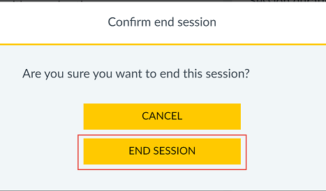 Confirm end session