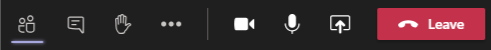 Image of the Meeting controls panel in Teams