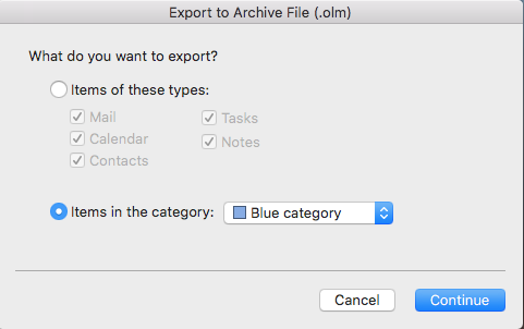 Export contact group file