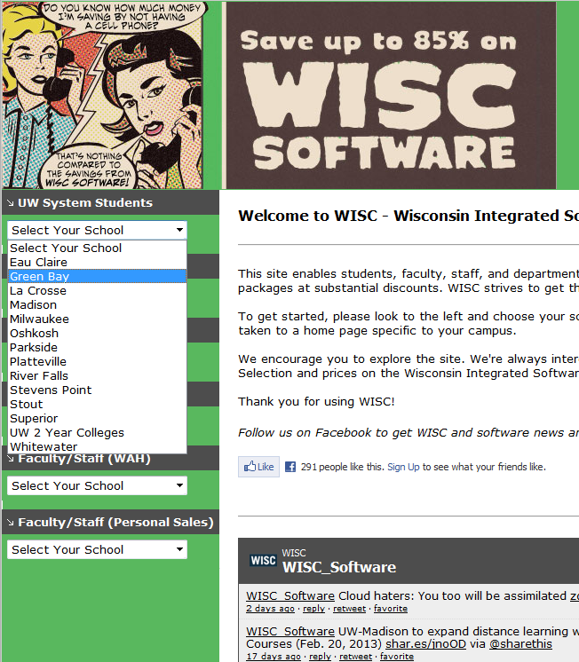 Wisc Software Dropdown